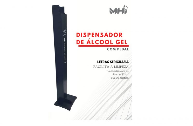 Dispensador Álcool Gel com Pedal DAG-001